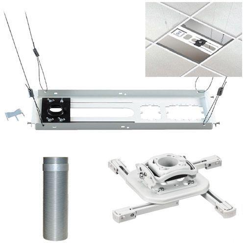 Chief® White Mini Elite Universal Ceiling Projector Mount Kit-KITMZ006W