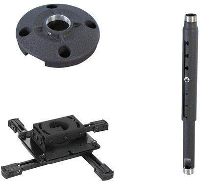 Chief® Black Universal Ceiling Projector Mount Kit-KITPD012018