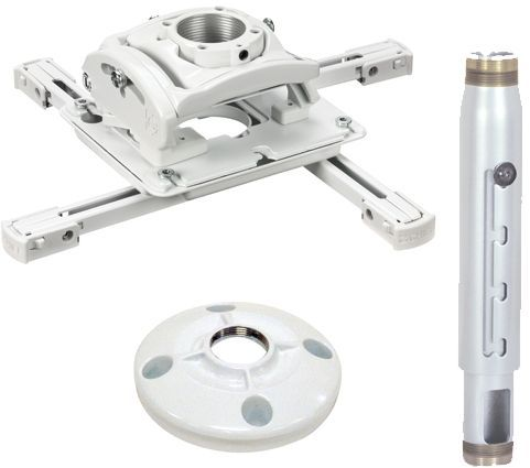 Chief® White Universal Ceiling Projector Mount Kit-KITPD012018W