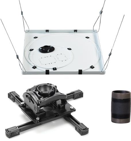 Chief® Black Universal Ceiling Projector Mount Kit-KITPR003