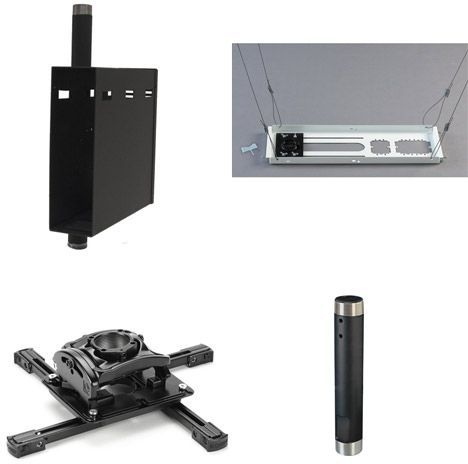 Chief® Black Universal Ceiling Projector Mount Kit-KITQS012C