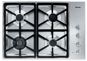 """Miele 30"""" Stainless Steel Gas Cooktop-KM3464G"""