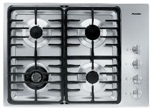 """Miele 30"""" Stainless Steel Gas Cooktop-KM3465LP"""