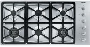 """Miele 43"""" Stainless Steel Gas Cooktop-KM3484G"""