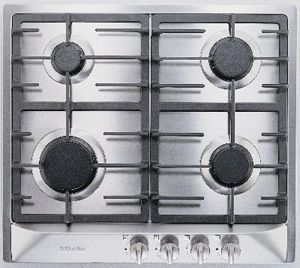 """Miele 24"""" Stainless Steel Gas Cooktop-KM360G"""