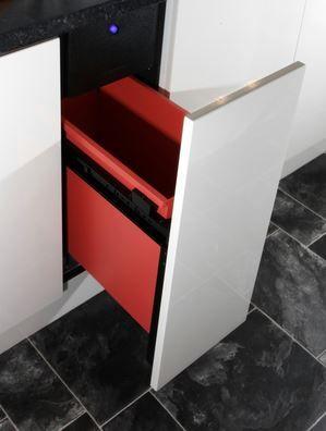 "Krusher 15"" Built In Trash Compactor-White-KO15"