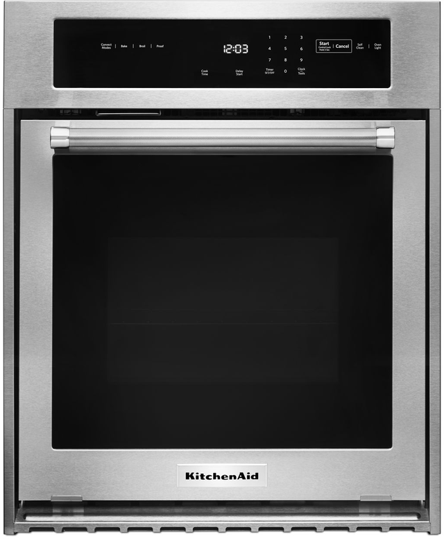 """KitchenAid® 23.75"""" Stainless Steel Electric Single Oven Built In-KOSC504ESS"""