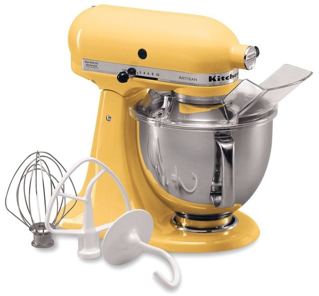 KitchenAid® Artisan® Series Majestic Yellow Stand Mixer-KSM150PSMY