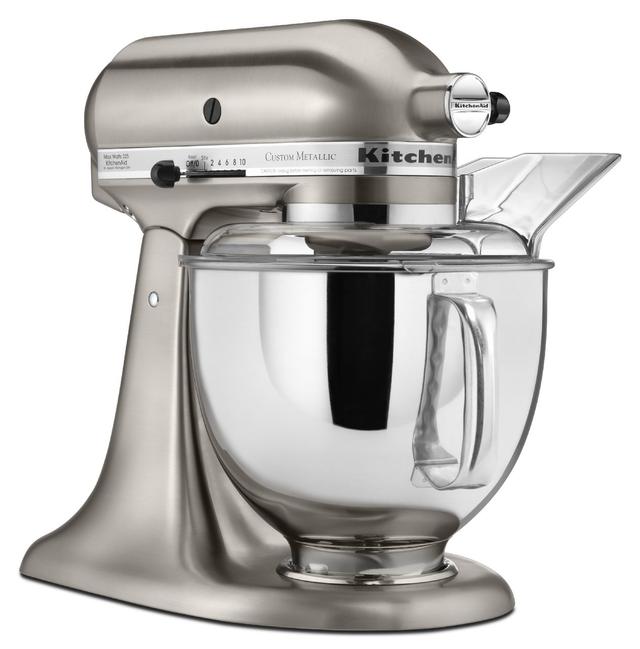 KitchenAid® Custom Metallic® Series Brushed Nickel Stand Mixer-KSM152PSNK