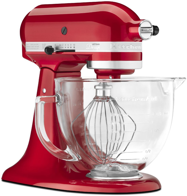 KitchenAid® Artisan® Design Series Candy Apple Red Stand Mixer-KSM155GBCA