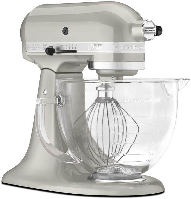 KitchenAid® Artisan® Design Series Sugar Pearl Silver Stand Mixer-KSM155GBSR