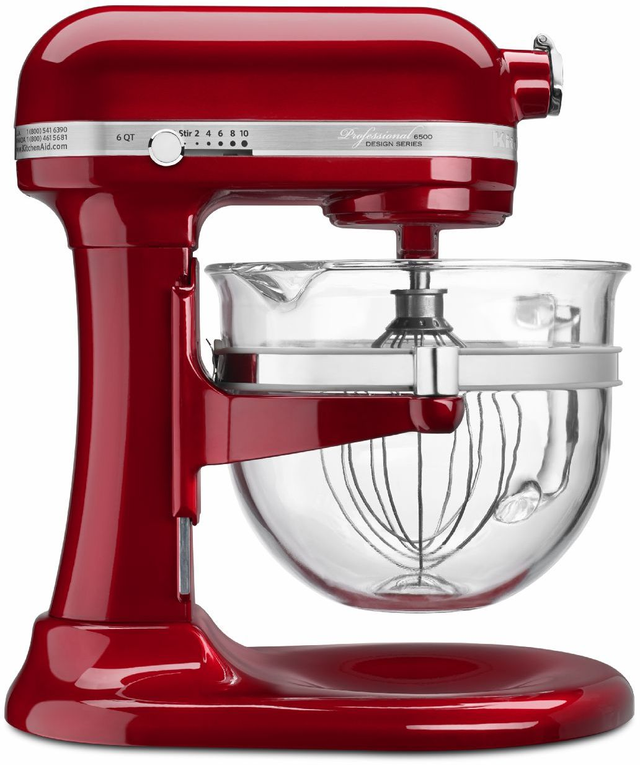KitchenAid® Professional 6500 Design™ Series Stand Mixer-Candy Apple Red-KSM6521XCA
