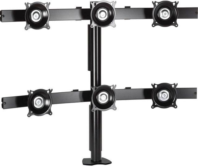 Chief® Black Six Monitor Desk Clamp Mount-KTC330B