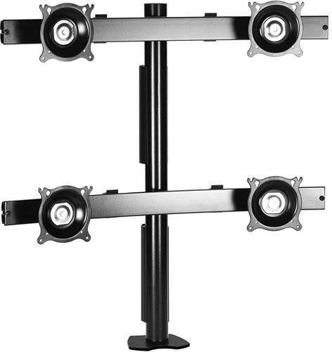 Chief® Black Quad Monitor Desk Clamp Mount-KTC440B