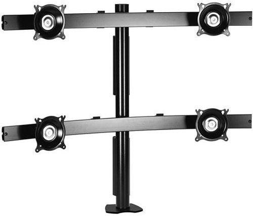 Chief® Black Widescreen Quad Monitor Desk Clamp Mount-KTC445B
