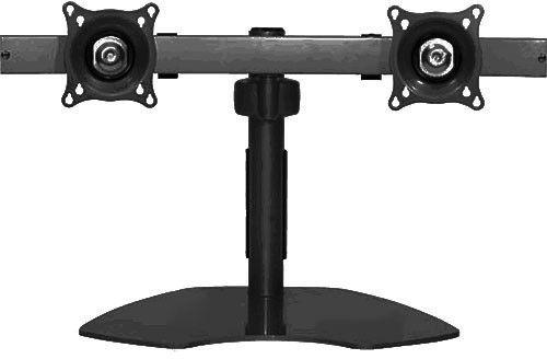 Chief® Black Dual Monitor Horizontal Table Stand-KTP220B