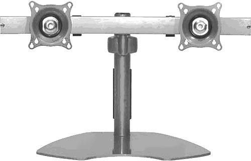 Chief® Silver Widescreen Dual Monitor Horizontal Table Stand-KTP225S