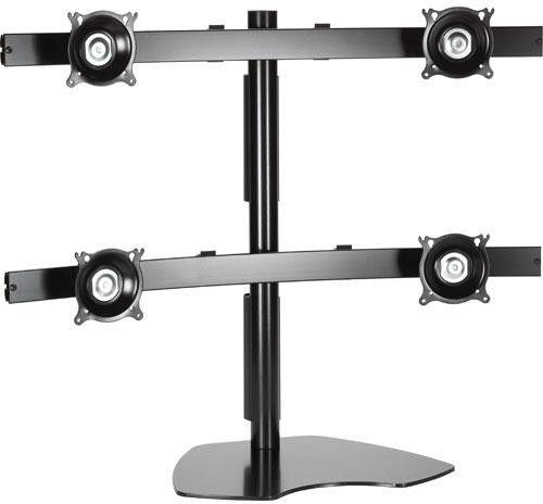 Chief® Black Quad Monitor Table Stand-KTP440B