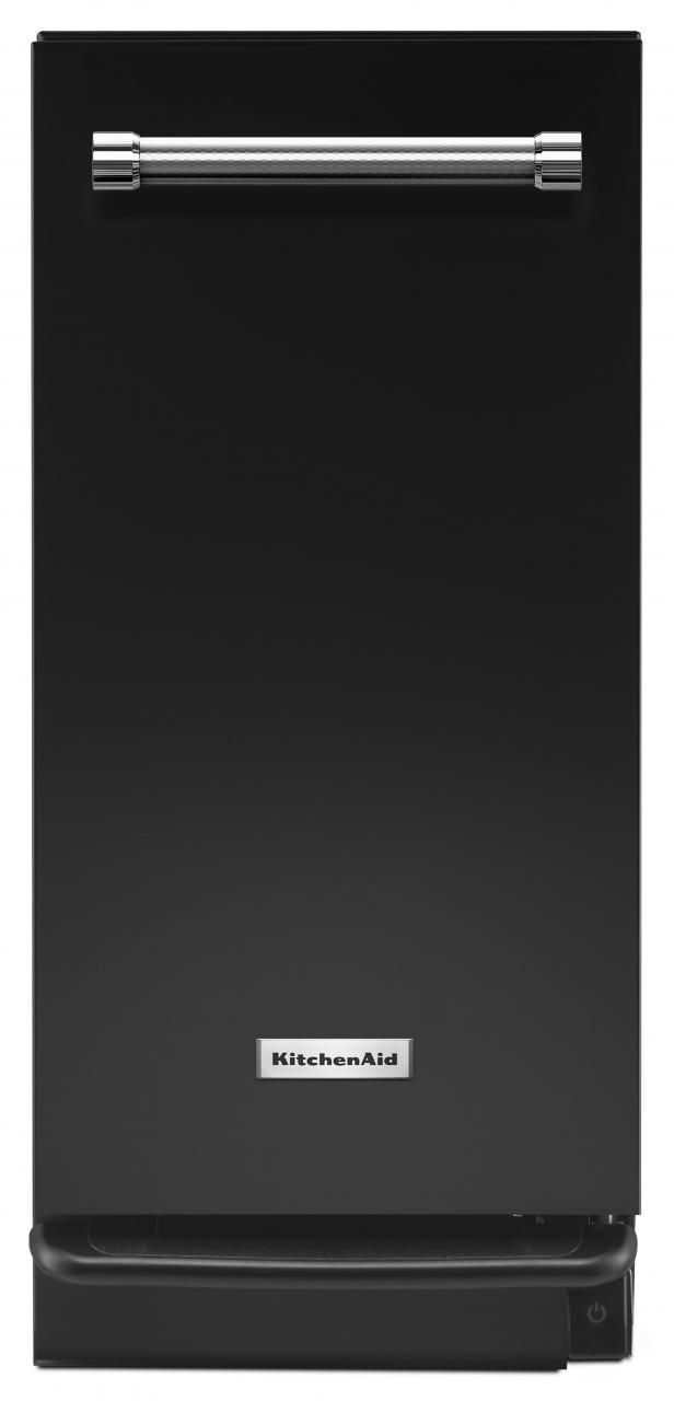 "KitchenAid® 15"" Black Built In Trash Compactor-KTTS505EBL"