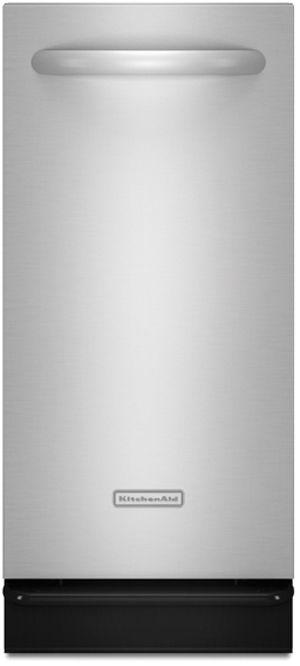 "KitchenAid® Architect® Series II Series 15"" Built In Trash Compactor-Black-KUCS03FTBL"