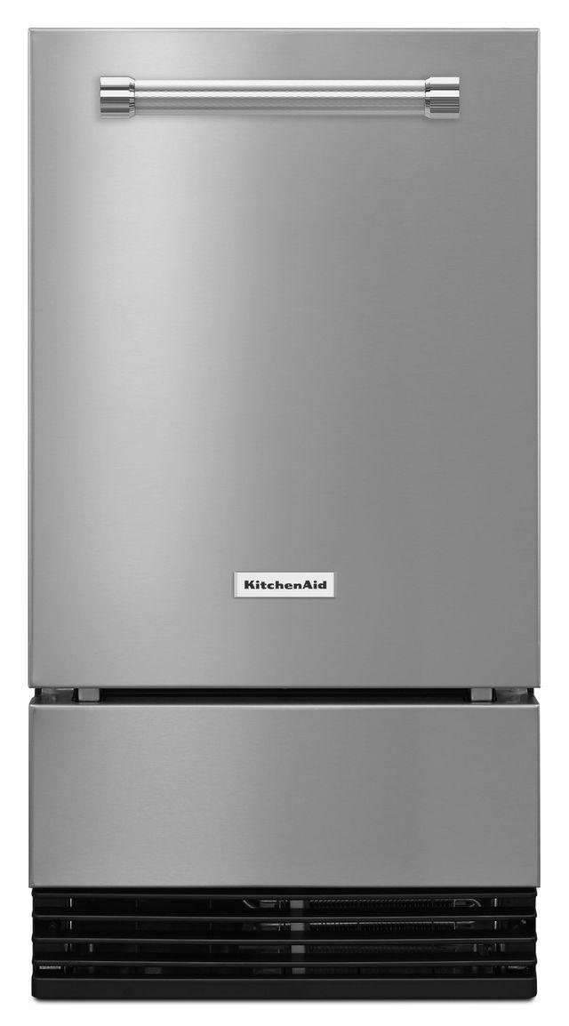 """KitchenAid® 18"""" Stainless Steel Ice Maker-KUID308ESS"""
