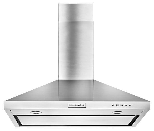 KitchenAid® 36'' Stainless Steel Wall Mount Hood-KVWB406DSS