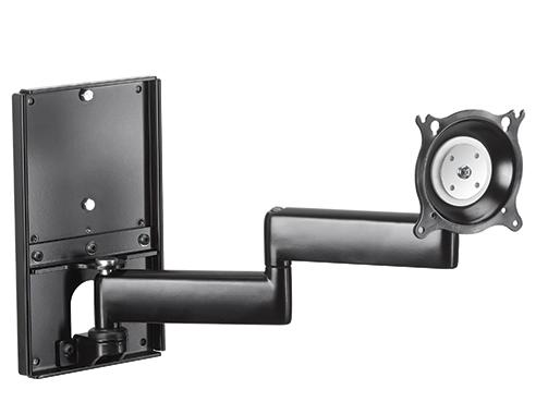 Chief® Professional AV Solutions Black Dual Arm Metal Stud Wall Mount-KWDSK110B