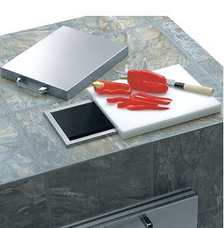 Lynx Professional Series Countertop Trash Chute with Cutting Board & Cover-L18TS