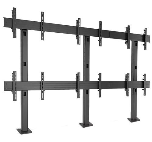 Chief® Professional AV Solutions Black FUSION™ Large Bolt-Down Freestanding Video Wall-LBM3X2U