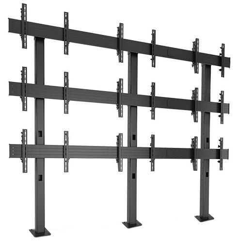 Chief® Professional AV Solutions Black FUSION™ Large Bolt-Down Freestanding Video Wall-LBM3X3U