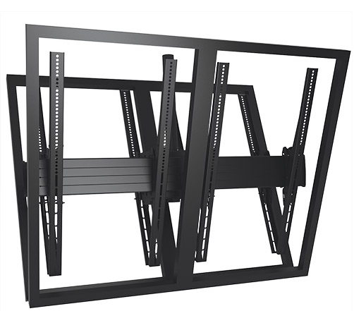 Chief® Professional AV Solutions Black FUSION™ Large Portrait Back To Back Ceiling Mount-LCB2X1UP