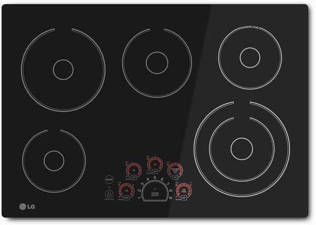 "LG 30"" Black Electric Cooktop-LCE3010SB"