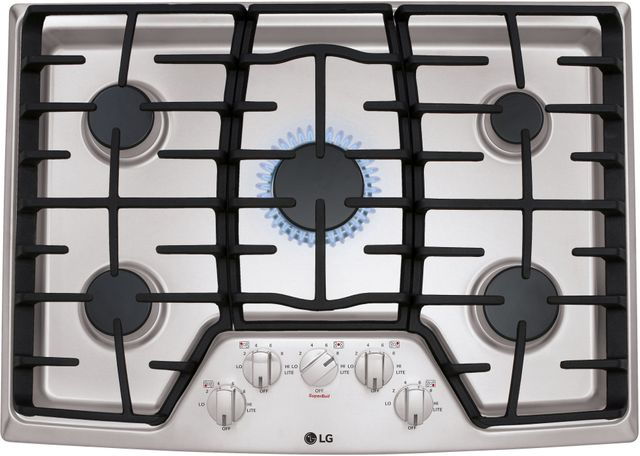 """LG 30"""" Stainless Steel Gas Cooktop-LCG3011ST"""