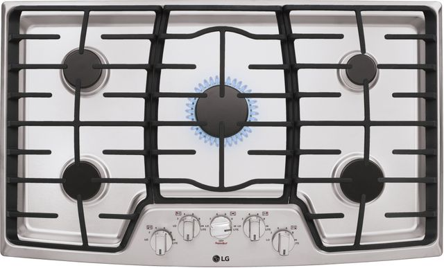 """LG 36"""" Stainless Steel Gas Cooktop-LCG3611ST"""