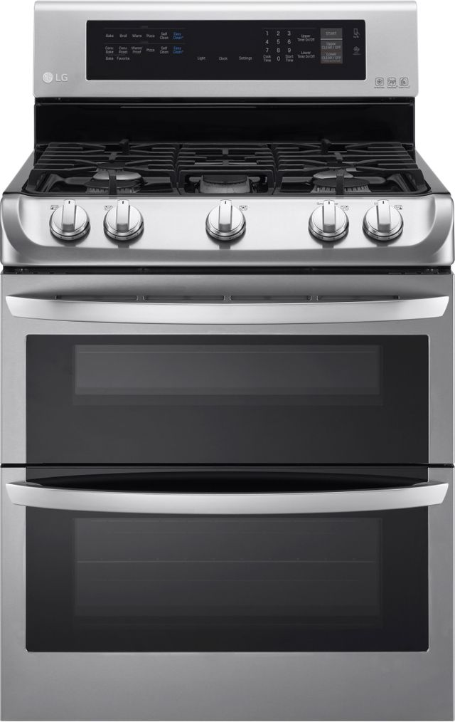 """LG 30"""" Stainless Steel Free Standing Gas Double Oven Range-LDG4313ST"""