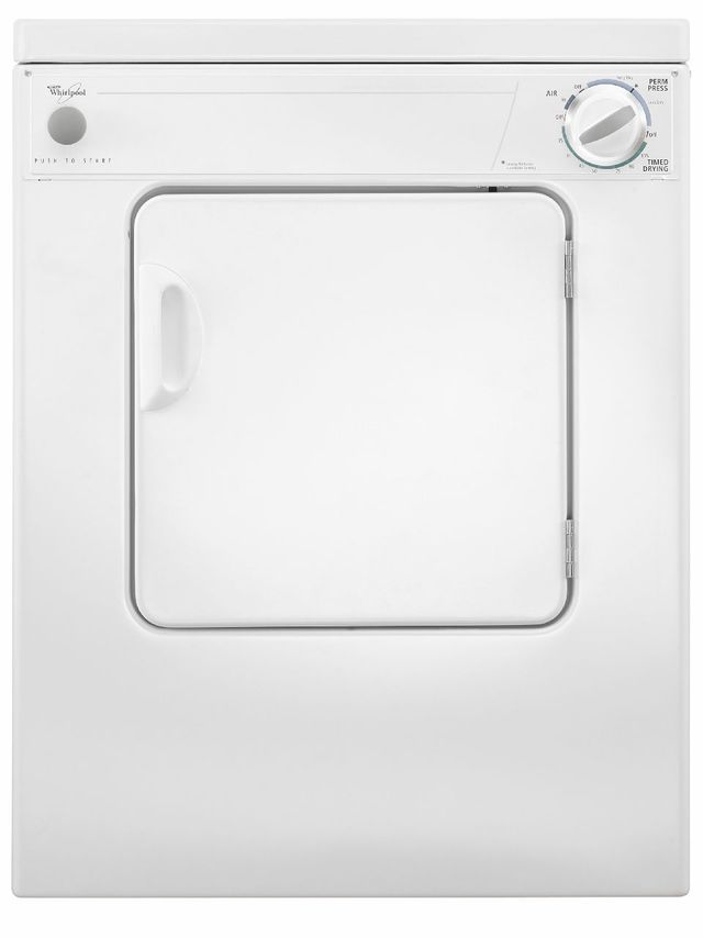Whirlpool® Compact Front Load Electric Dryer-White-LDR3822PQ