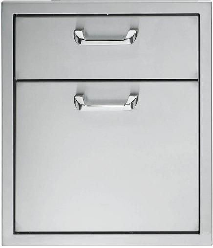 """Lynx Professional Series 19"""" Double Drawer-Stainless Steel-LDW19"""