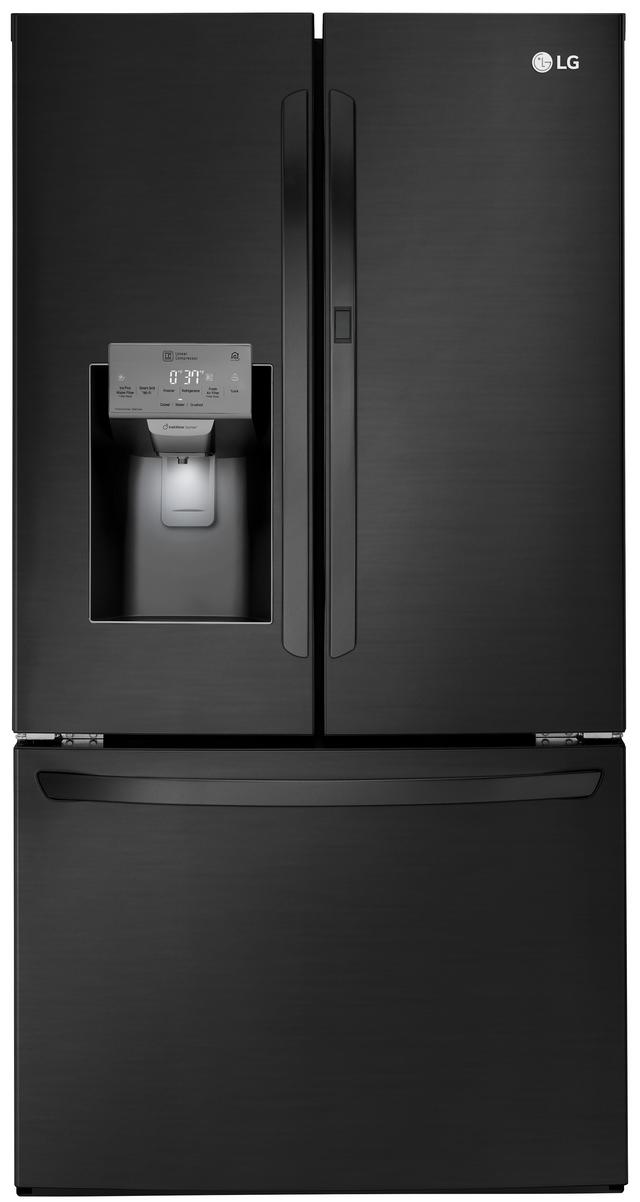 Réfrigérateur à portes françaises de 36 po LG® de 27,7 pi³ - Acier inoxydable noir mat-LFXS28566M