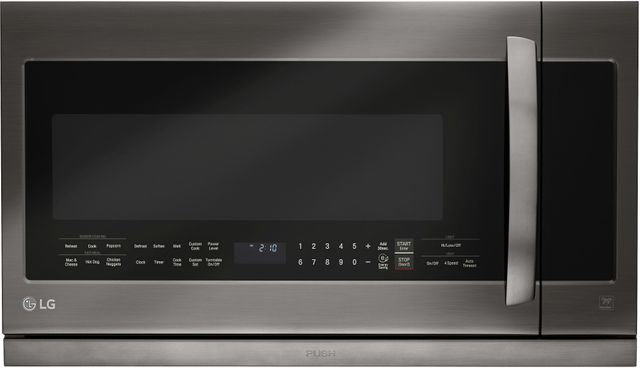 LG 2.2 Cu. Ft. Black Stainless Steel Over The Range Microwave Oven-LMHM2237BD