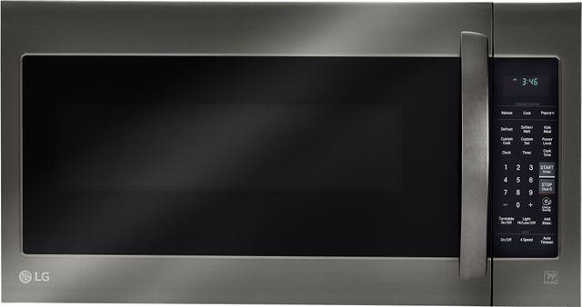 LG 2.0 Cu. Ft. Black Stainless Steel Over the Range Microwave Oven-LMV2031BD