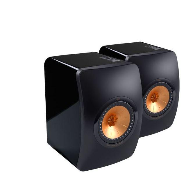 "KEF 50th Anniversary 5.25"" Bookshelf Speakers- Black, Rose Gold-LS50 Mini Pair"