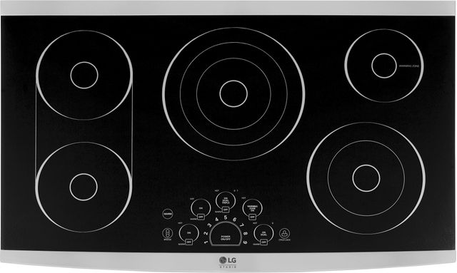 """LG Studio 36"""" Stainless Steel Frame Electric Cooktop-LSCE365ST"""
