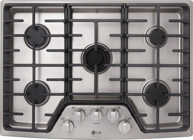 """LG Studio 30"""" Stainless Steel Gas Cooktop-LSCG307ST"""
