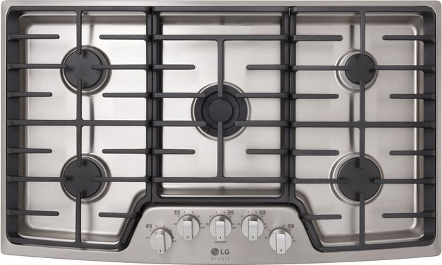 """LG Studio 36"""" Stainless Steel Gas Cooktop-LSCG367ST"""
