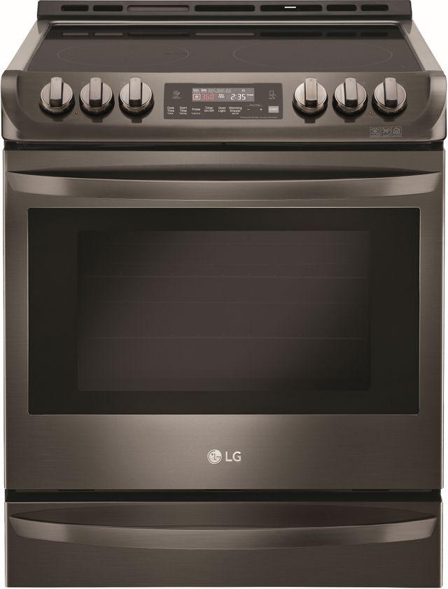 "LG 30"" Black Stainless Steel Electric Slide In Range-LSE4613BD"