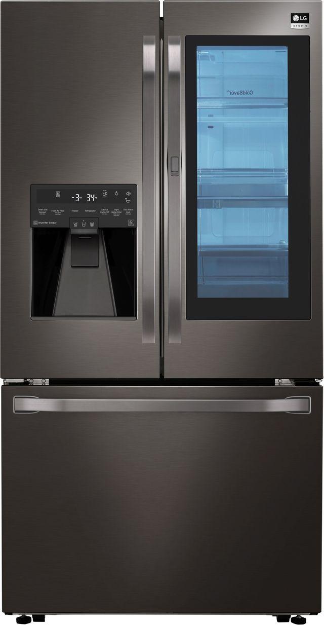 Réfrigérateur à portes françaises de 36 po LG Studio® de 23,5 pi³ - Acier inoxydable noir-LSFXC2496D