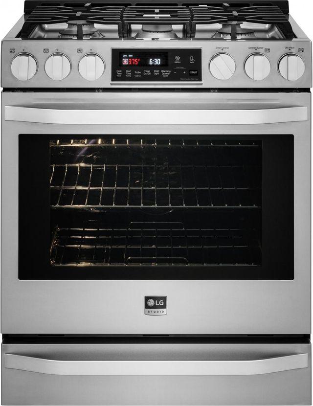 Cuisinière au gaz encastrée LG Studio® de 6,3 pi³ de 30 po - Acier inoxydable-LSSG3016ST