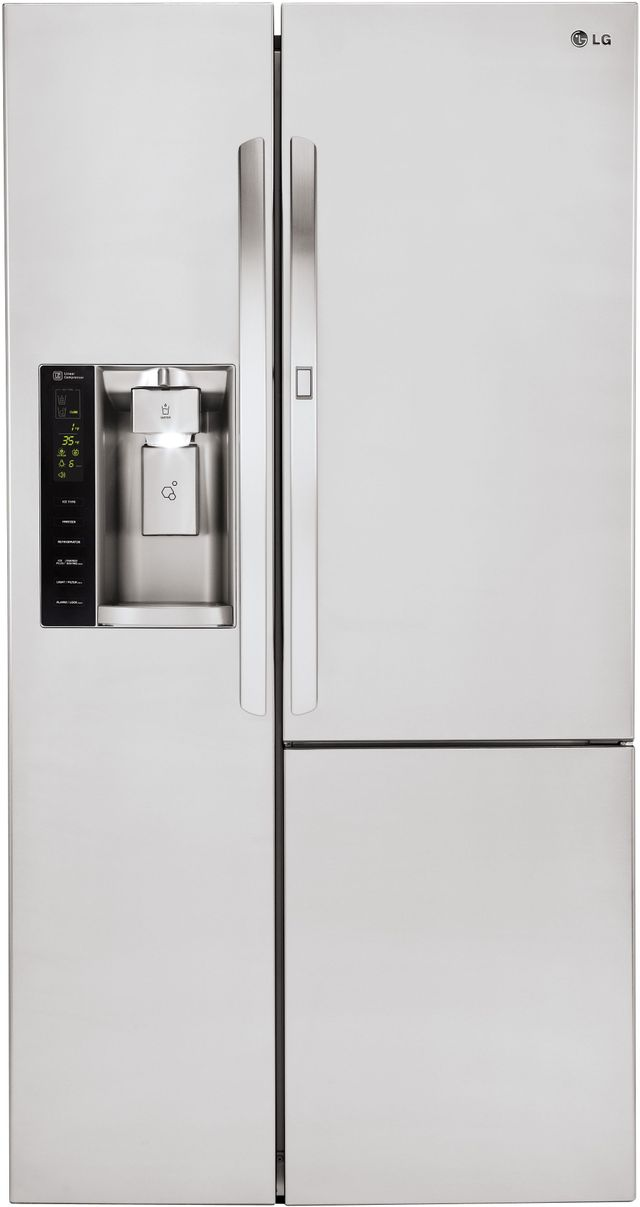 LG 26.1 Cu. Ft. Stainless Steel Side-By-Side Refrigerator-LSXS26366S