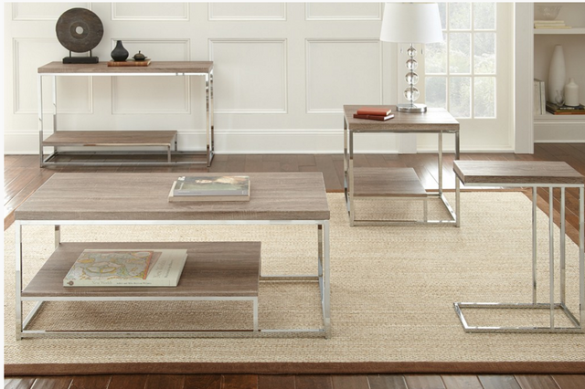 Steve Silver Co. Lucia Sofa Table-Brown-LU250S