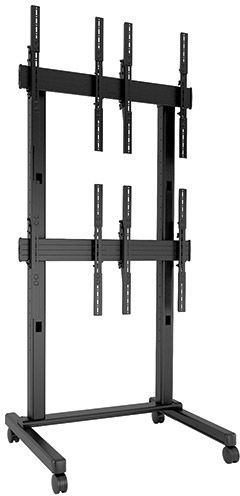 Chief® FUSION™ Black 2 x 2 Portrait Micro-Adjustable Large Freestanding Video Wall Cart-LVM2X2UP